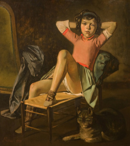 Balthus Girl and Cat (1937)