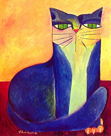 aldemir-martins-gato-azul-iii-19871
