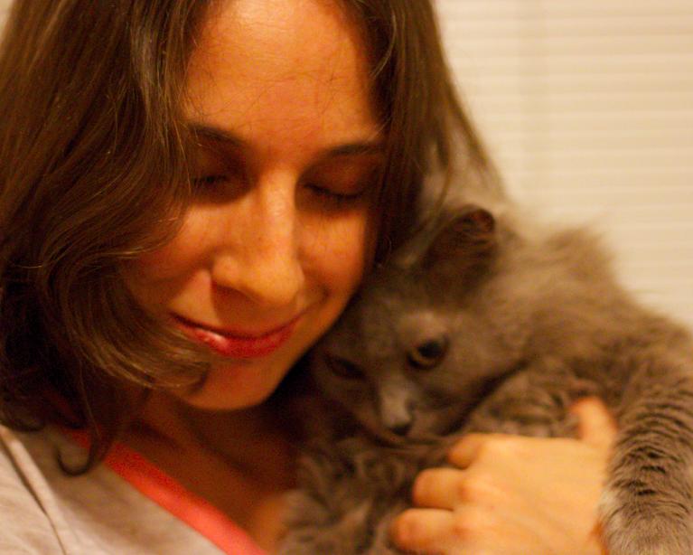 eu e rabisca minha gatinha idosa