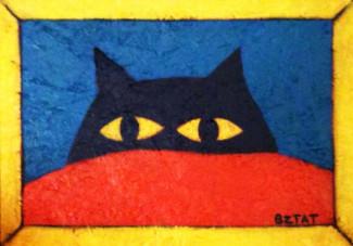black-cat-yellow-frame-painting-BZTAT-LR